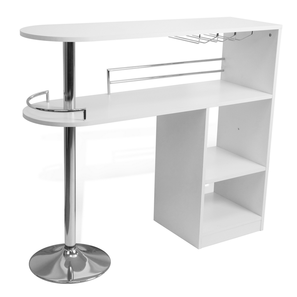 Kitchen Table Bar: Homegear Kitchen Cocktail Bar Table - White