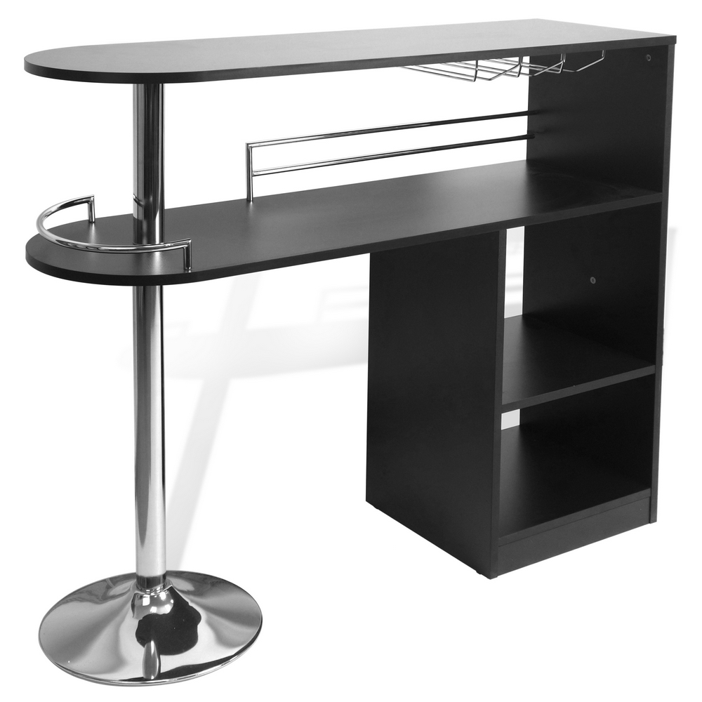 Kitchen Table Bar: Homegear Kitchen Cocktail Bar Table - Black