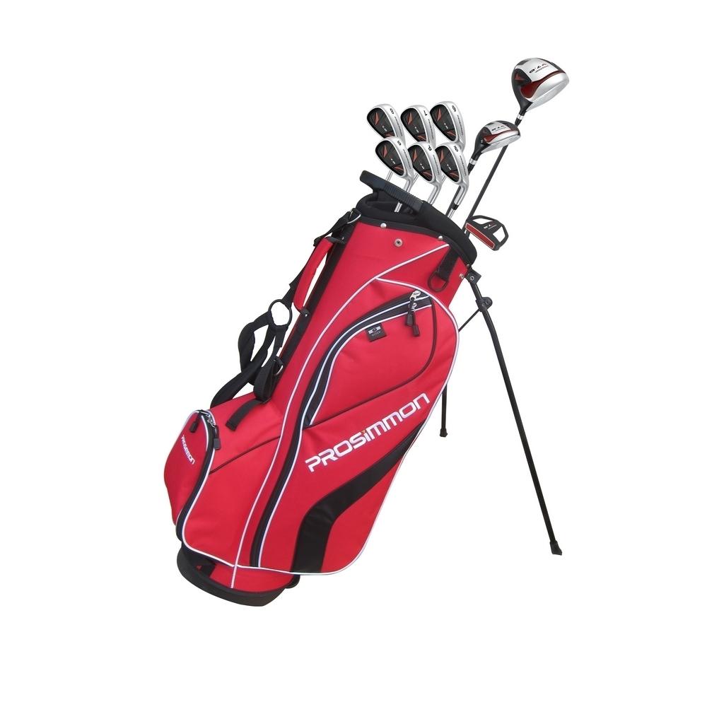 Prosimmon V7 Golf Package Set 1 Inch Longer Red Stand Bag St